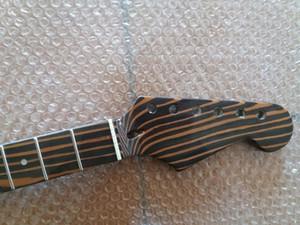 Zebra ahşap Elektro Gitar Boyun Değiştirme ST tarzı için 22 Fret