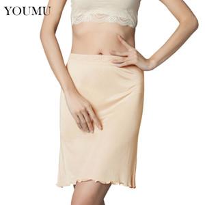İpek Petticoat Yarım Fiş Jüpon Midi Fit Seksi Lingerie altına giymek M-XL Yeni Moda 207-086 Taklitçiliğin Petticoat Kadın Kayma