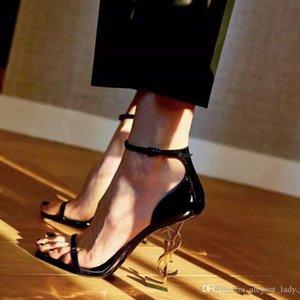 Scarpe da sposa moda di lusso scarpe da sposa Donne progettista Sandali donna pompe 2019 nuovi pattini del partito delle signore dell'oro in azione