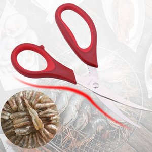 Stainless Steel Sharp Seafood Shears Lobster Fish Shrimp Crab Scissors Shrimp Seafood Shells Scissors Kitchen Shears Tools BH2609 TQQ