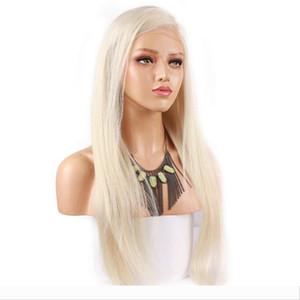 Platinum Blonde # 60 pur Couleur des cheveux avant de dentelle perruque perruques cheveux brésiliens Remy Pré-plumé Hairline naturel pour les femmes