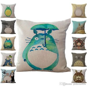 hthome Chinchilla Totoro Pillow Case Cushion cover Linen Cotton Throw Pillowcases sofa Bed Pillow covers Drop shipping PW431