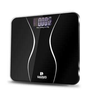 Salle de bain Pèse sol électrique intelligent numérique Poids santé Échelle d'équilibre verre trempé écran LCD 180 kg / 50 g