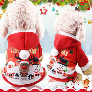 Buon Natale Pet Dress 6 Size Elk Santa Puppy Suit Classic Euramerican Pet Dog vestiti di Natale Animali Abbigliamento all'ingrosso DH0319