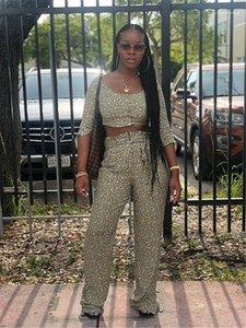 Bow Long Pants Womens 2ST-Hosen-beiläufige Frauen Kleidung Blumendruck der Frauen 2PCS Hosen reizvolle kurze Kleidung Bind