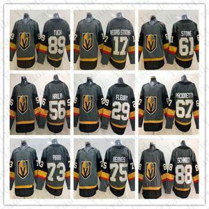 2019 Nouvelle arrivée Vegas Golden Knights Gris Fleury Pacioretty Ryan Reaves Tuch Mark Stone # 17 Vegas Strong Haula Pirri Schmidt Maillot de hockey