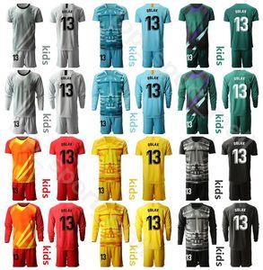 Kinder Langarm-2020 Jugend 13. Januar Oblak Torwart GK Trikotset Soccer 1 Miguel Angel Moya Antonio Adan Fußball-Hemd Kits MJ