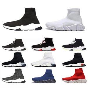 الأحذية جورب سرعة الكتابة على الجدران رجال المدرب النساء أحذية رياضية الثلاثي الأسود أبيض واضح الوحيد خمر رجل إمرأة المدربين الرياضية 36-45