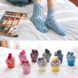 Natal Lady macio Piso Socks Início seus acessórios doces Mulheres Fluffy meias quentes Inverno Cozy Lounge Bed presente Xmas Socks