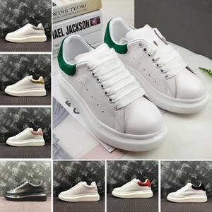2020 Casual Shoes sapatos Mens Mulheres Platform sapatilhas vermelhas brancas pretas dos amantes de moda de rua moda Shoes instrutor de couro genuíno
