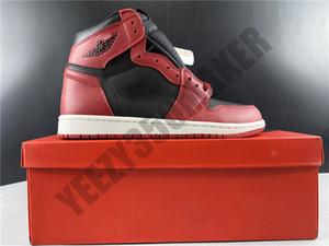 2020 Varsity Red Jumpman 1 1S OG 85 Designer mit authentischen New Zoom Männer Basketball-Schuhe Seide 35. schwarzer und grüner Kasten BQ4422-600