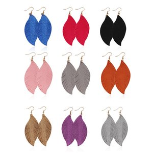 Leather Leaf Dangle Earrings Lightweight Feather Drop Earring for Women Girls Soft Suede Feather Fashion Women Earring Party Jewelry