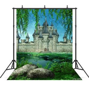 Vinylgewebe Foto Kulissen Fotoshooting Schloss Fotografie Hintergrund Porträt Gras Hintergrund für Foto-Shooting