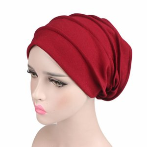 Women Cotton atmen Haben die neuen Frauen Hijabs Turban elastischen Stoff Kopf-Kappe Damen-Haar-Zusätze Muslim Schale Mütze Großhandel