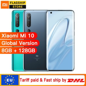 "Versão global Xiaomi Mi 10 8GB 128GB Smartphone 5G 108MP Mobile Phone Snapdragon 865 Octa Núcleo 6,67"" display AMOLED WIFI 6"