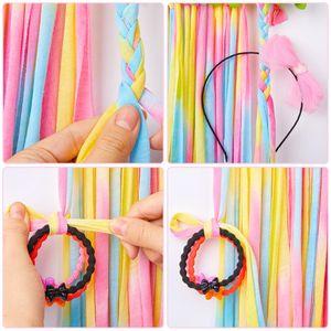 Fioday Hanging Flower Decorated Wood Hair Bows Storage Belt for Girls Strip Cloth Barrette Hairband Organizer Holder DIY Tools