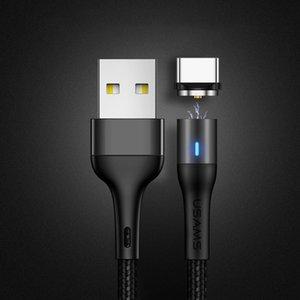 USAMS US-SJ353 U32 Typ-C / USB-C-Aluminiumlegierung Magnetic Charging Datenkabel, Länge: 1m