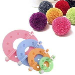 Çocuklar ve Yetişkinler için 4 Boyutları Pom-pom Maker Fluff Topu Weaver İğne Craft DIY Yün Örgü Craft Aracı Seti Dekorasyon