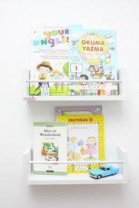 2 PCs Montessori Bookshelf Baby Kids Room Bar Rack White Wall Rack Decor 40 cm