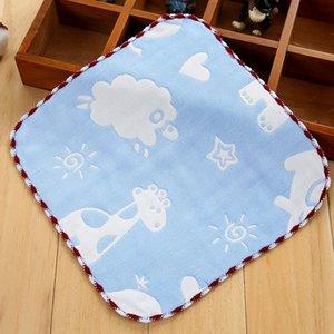 Baby's Kids Newborn Children Cotton Gauze Square Handkerchiefs Animals Clouds Saliva Towel 22*23.5CM FS0585