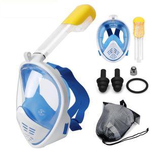 Yeni Tüplü Dalış Maskesi Tam Yüz Şnorkel Yüzme Spearfishing Dive Motosiklet gözlük için Sualtı Karşıtı Sis Şnorkel Dalış Maskesi