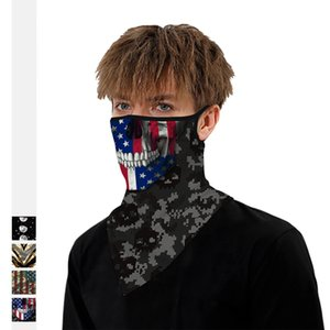 Outdoor Sports Cycling Triangle Skull Skeleton Multi-functional Scarf Riding Mountain Climbing Wind-proof Dust-proof Neck Gaiter Mask