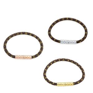 modello classico epoca cinturino in pelle di marca del progettista paio moda gioielli unisex braccialetto di alta qualità braccialetto bracciale in titanio