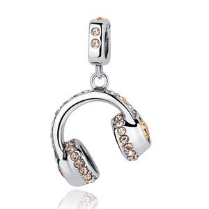 925 Ayar Gümüş Moda Kulaklık Kulaklık Müzik Kolye Kadınlar için fit Bilezikler Kolye Düğün Aksesuarları