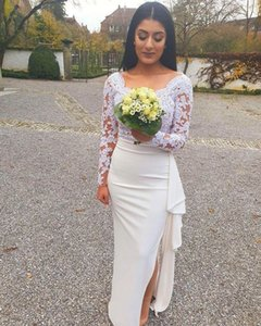 Aso Ebi Arabic Sexy Lace Bridesmaid Dresses Long Sleeves Sheath Wedding Party Guests Prom Gonws Vintage Formal Evening Dresses
