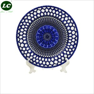 Dinner Plates Flatware Dinnerware Plates High-end Plates Set Blue Nice Ceramic Dishes Christmas Gift