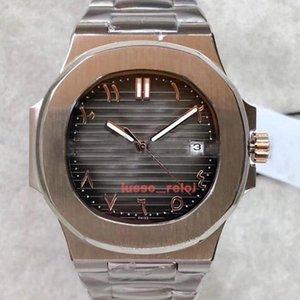 2020 mouvement automatique maître montres islamique mens numérique de luxe arabe montre 40MM haute qualité 5711 montre 316 bracelet en cuir d'acier chaud 111