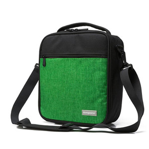 Diseñador-4PCS / LOT Estudiante del papel de aluminio con aislamiento solo bolso de hombro de tela Oxford almuerzo Bento Bolsa Bolsa de picnic portátil