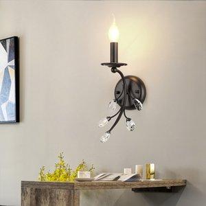 Moderno diseño nórdico E14 Vintage Crystal Led luces de pared accesorios para escalera dormitorio baño iluminación del hogar