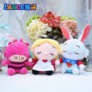 """3шт / Lot 8"""" 20см Алиса в стране чудес Алиса Cheshire Cat Белый Кролик Плюшевые куклы Мягкие игрушки Животные Подарки NOOM002"""