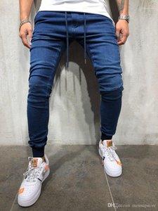 Elastik Bel Atletik Pantalones Pantolon Erkek Günlük Spor Jogger Jeans İlkbahar