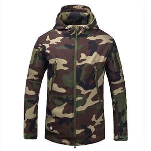Marca de ropa Otoño Invierno hombre chaqueta de camuflaje del ejército Fleece ejército táctico Ropa Multicamara masculino camuflaje Windbreakers