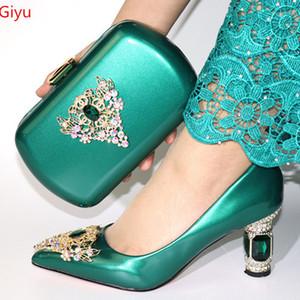 Senhoras italianos Sapatos e bolsas para combinar Set Plus Size sapatos Mulheres salto Set Itália africanos sapatos e sacos de harmonização italiana Jogo BB1-17