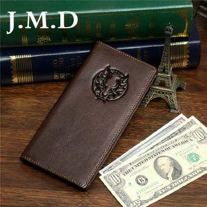 Portafoglio da portafoglio in pelle con portafoglio Autumn Multi-Card Long New Atmospheric 8009-1C XAAFC