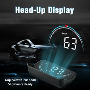 Novo M8 HUD Cabeça Up Display Car-styling Hud Exibição Excesso de Velocidade Aviso Windshield Projetor Sistema de Alarme de Carro Universal Auto