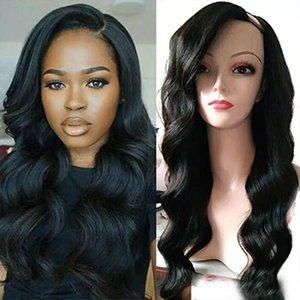 100٪ الانسان الشعر 100٪ غير المجهزة البرازيلي ريمي الشعر الجانب الأيسر الجزء شعر مستعار للنساء السود شعر الإنسان جسم موجة شعر مستعار