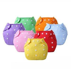 Reutilizable del paño del bebé del pañal lavable Formación ajustable de las bragas pañal del paño del bebé Pañales ecológicos 7 colores KKA7853