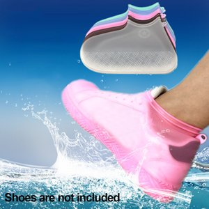 Waterproof Thicken Hiking Durable Solid Reusable Non Slip Shoe Cover Protector Rain Boots Portable Washable