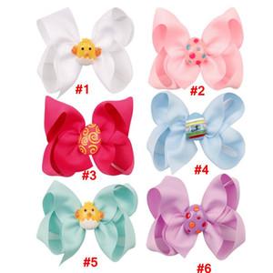 Easter Egg Hairpin Barrettes Girl Candy couleur bowknot Pin enfants cheveux Pincer coloré mignon Couvre-chef Accessoires cheveux Parti Cadeaux LJJA3750