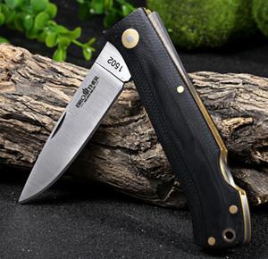 Frère 1502 couteaux pliants de poche survie tactique dossier Camping poignée de G10 en laiton EDC outil Collection de haute qualité