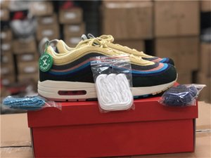 2019 Authentic Air Sean Wotherspoon 1/97 VF SW 2018 Mitteilung Lemon Corduroy Regenbogen Max Laufschuhe Herren Turnschuhe mit ursprünglichem Kasten 36-47