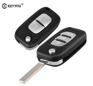 2/3 düğmeler araba uzaktan anahtar kılıfı çevirme Fob Katlanır kesilmemiş bıçak kabuk Renault Fluence Clio / megane / Kangoo Modus