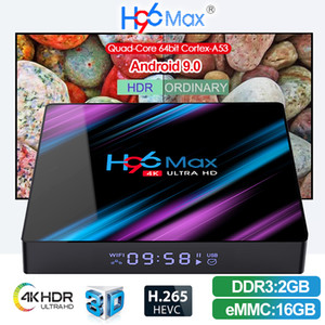 Android TV Box H96 MAX Android 9.0 RK3318 2 + 16GB 4 + 32 / 64GB Unterstützung WIFI 2.4 + 5-GHz-Bluetooth 4.0
