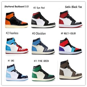 1 Low Og Travis Shoes Scotts Destemido Mens Basketball quebrados encosto Fantasma TRIBUNAL PURPLE 1s Rookie Of The Year UNC Outdoor Sneakers