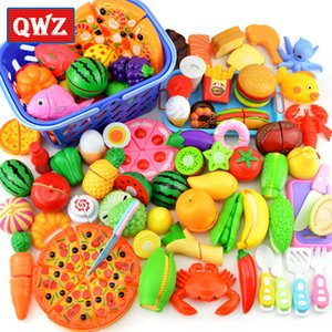 NEW Children Kitchen Pretend Play Toys Cutting Fruit Vegetable Food Miniature Play Do House Education Toy Gift for Girl Kid CX200605