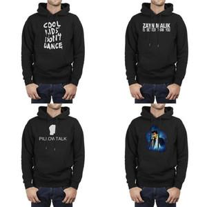 Uomo Design stampa US Fantastico Bambini Non ballano T shirt Dope Swag Zayn Malik Yolo nero Fleece Felpa con cappuccio personalizzati Amici sottile